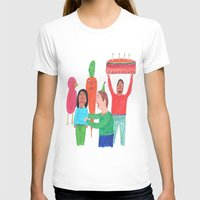 happy birthday T-shirts featuring Happy Birthday! by Elga Libano