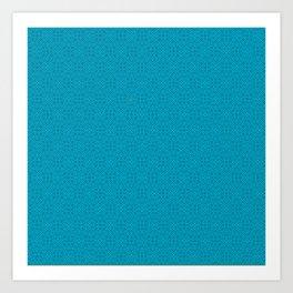 Turquoise Très Petit Geometric Pattern Art Print