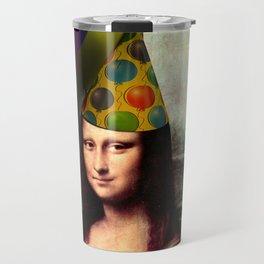 Mona Lisa Birthday Girl Travel Mug