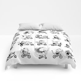 Animals Bicylcle Club Comforters