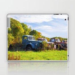 Antique Trucks in Autumn Laptop & iPad Skin