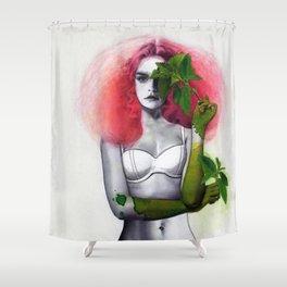 Garden Girls 3 - Mint Shower Curtain