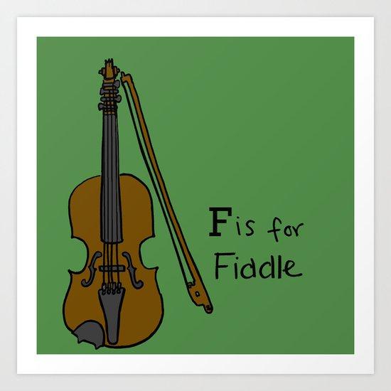 Fiddle Art Print