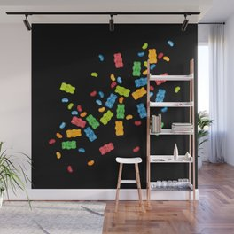 Jelly Beans & Gummy Bears Explosion Wall Mural