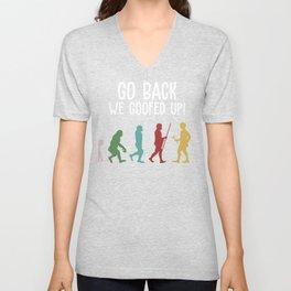 Go Back Trump Ruined Gift Design Anti Trump graphic Unisex V-Neck