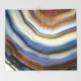 Colorful layered agate 2075 Throw Blanket