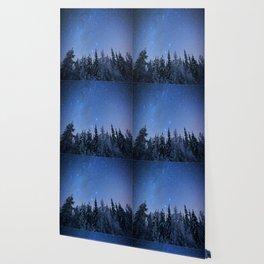 Shimmering Blue Night Sky Stars 2 Wallpaper