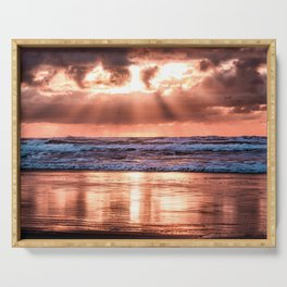 Northern California Sunset - Nature Photography Serving Tray