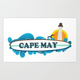 Cape May - New Jersey. Art Print
