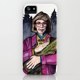 Twin Peaks Log Lady iPhone Case