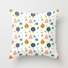 Minimal Tree Pattern Throw Pillow