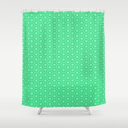 Windmill Turquoise and Mint Green Pinwheel Country Western Inspired Design Pattern Shower Curtain