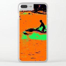 Summer Jetting - Jet Ski Fun Clear iPhone Case