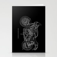 cafe racer Stationery Cards featuring NORTON COMMANDO 961 CAFE RACER. 2011 by Larsson Stevensem
