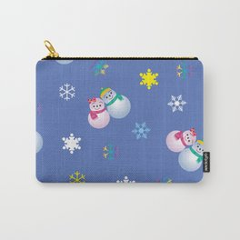 Snowflakes & Pair Snowman_C Carry-All Pouch