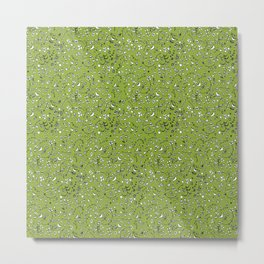 Flowercurtain Metal Print