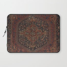 Boho Chic Dark I // 17th Century Colorful Medallion Red Blue Green Brown Ornate Accent Rug Pattern Laptop Sleeve