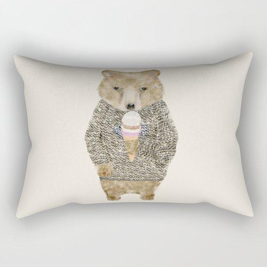 sundae bear Rectangular Pillow
