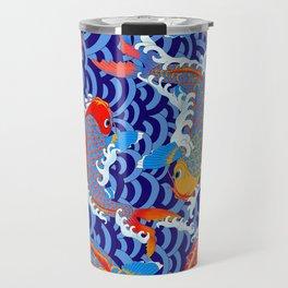 Koi fish / japanese tattoo style pattern Travel Mug