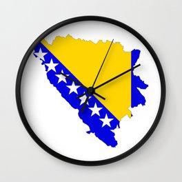 bosnia herzegovina flag map Wall Clock