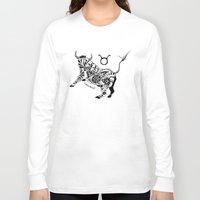 taurus Long Sleeve T-shirts featuring Taurus by Anna Shell