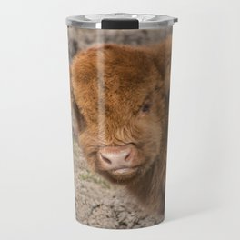 Baby Scottish Highland Coo Travel Mug