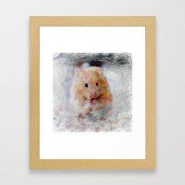 Artistic Animal Hamster Framed Art Print