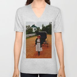 Anne of Green Gables Pulls the Carriage Unisex V-Neck