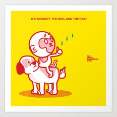 The Dog, the Monkey, and the Rain Art Print