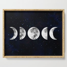Phases of the Moon Galaxy Serving Tray