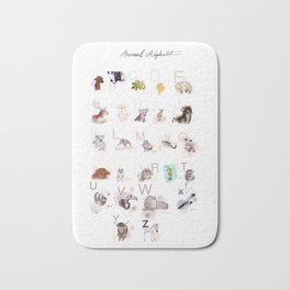 animal alphabet Bath Mat