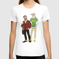 legolas T-shirts featuring Hipster Legolas and Gimli by Nautilus Gifticus