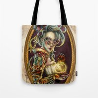 steampunk Tote Bags featuring Steampunk by Mili Koey