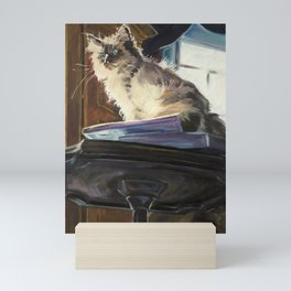 The Magnificent Ascent of the Mighty Bear (the Ragdoll Cat) Mini Art Print