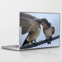 swallow Laptop & iPad Skins featuring Swallow 3 by Cory Dean