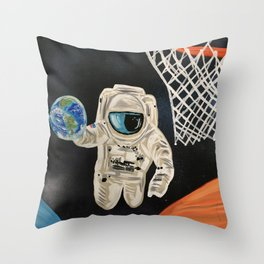 Space Games Throw Pillow