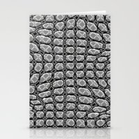 gray pattern Stationery Cards featuring Gray Pepples Pattern by Pia Schneider [atelier COLOUR-VISION]