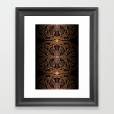 Steampunk Engine Abstract Fractal Art Framed Art Print