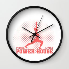 Fun Gymnast Gift Fierce Litte Power House Gymnast Wall Clock