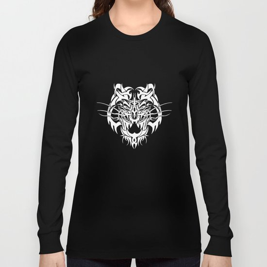 Tiger White Long Sleeve T-shirt