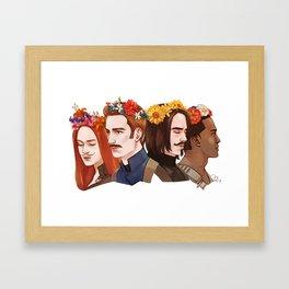 CATWS floral crowns (movember) Framed Art Print