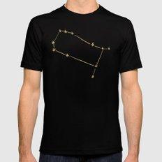 Gemini x Astrology x Zodiac MEDIUM Mens Fitted Tee Black