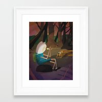 finn and jake Framed Art Prints featuring Finn & Jake by modHero