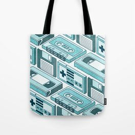 90's pattern-blue Tote Bag