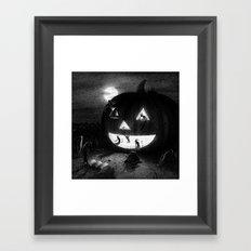 Drawlloween 2013: Pumpkin Framed Art Print