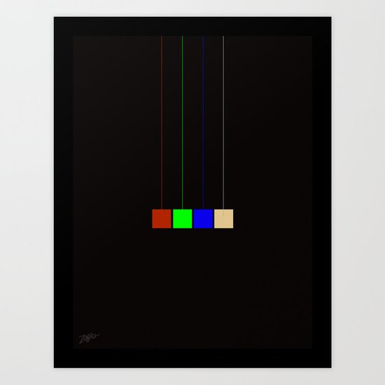 hanging cmyk  Art Print