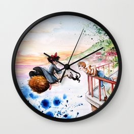 """""""Three friends"""" Wall Clock"""