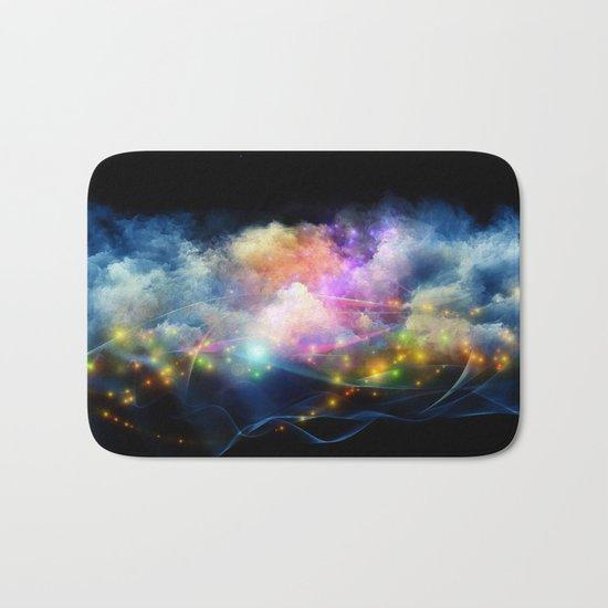 Space Clouds Bath Mat