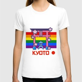 Kyoto Japan Lgbt Pride gay pride season rainbow  T-shirt