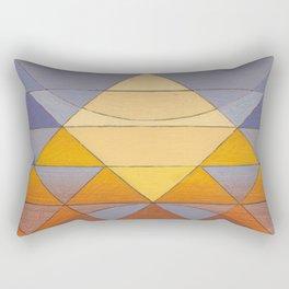 Pyramid Sun Mauve Purple Rectangular Pillow